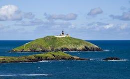 Lighthouse on Irish island Stock Photos