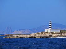 Lighthouse on Isla de Es Penjats Royalty Free Stock Photo