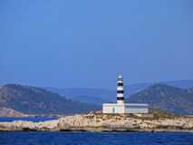 Lighthouse on Isla de Es Penjats Royalty Free Stock Photos