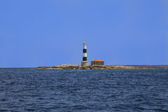 Lighthouse Isla de los Puercos Images stock