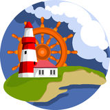 Lighthouse on the island Royalty Free Stock Photos