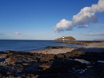 Lighthouse island stock photo