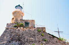 Lighthouse on the island of Corfu, Greece, Europe Stock Image