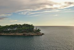 Lighthouse on the island of Daksa, Croatia Royalty Free Stock Photo