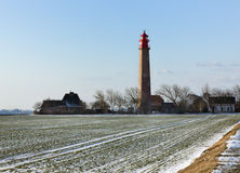 Lighthouse on the island of Fehmarn Royalty Free Stock Photo