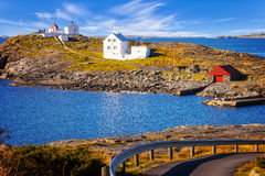 Lighthouse on island Royalty Free Stock Photography