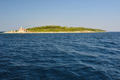 Lighthouse on island Hvar in Sucuraj, Croatia Stock Photography