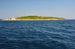 Lighthouse on island Hvar in Sucuraj, Croatia Stock Photography
