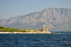 Lighthouse on island Hvar in Sucuraj, Croatia Stock Photo