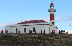 The lighthouse on the island of Magdalena. stock photography