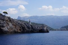 Lighthouse on the island of Mallorca royalty free stock photo