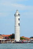 Lighthouse on the island of Murano - Italy. Lighthouse Santo Stefano on the island of Murano in the lagoon of Venice in Italy stock image