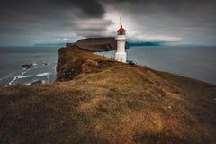 Lighthouse on the island of Mykines, Faroe