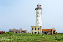 Lighthouse  of island Paramushir, Russia Royalty Free Stock Photography