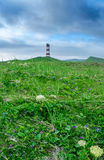 Lighthouse  of island Paramushir, Russia Royalty Free Stock Photo