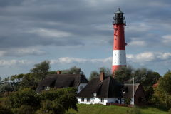 Lighthouse on the island Pellworm in Germany Stock Photos