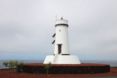 Lighthouse on the island of Pico royalty free stock image