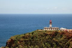 Lighthouse on the island of Pico, Azores Royalty Free Stock Image