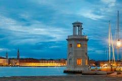 Lighthouse on island San Giorgio Maggiore, Venice Stock Photography