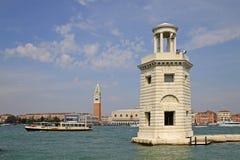 Lighthouse on the Island of San Giorgio Maggiore, Venice, Italy. VENICE, ITALY - SEPTEMBER 04, 2012: Lighthouse on the Island of San Giorgio Maggiore, Venice stock photography