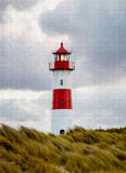 Lighthouse on the island Sylt - Digital painting Royalty Free Stock Photos