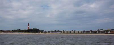 The lighthouse of the island Sylt  german northern sea.  royalty free stock image