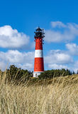 Lighthouse on the island Sylt in Hoernum Royalty Free Stock Photos