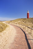 Lighthouse on the island of Texel in The Netherlands Royalty Free Stock Images