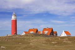 Lighthouse on the island of Texel in The Netherlands Stock Images