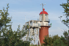 Lighthouse on the island of Vlieland stock image