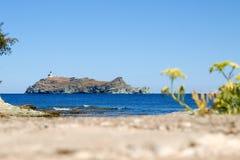 Lighthouse of isle Giraglia Royalty Free Stock Photos