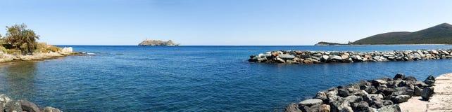 Lighthouse of isle Giraglia Royalty Free Stock Images