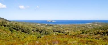 Lighthouse of isle Giraglia Royalty Free Stock Photography