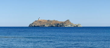 Lighthouse of isle Giraglia Royalty Free Stock Photos