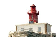 Lighthouse isolated on white Stock Photos