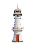 Lighthouse isolated on a white Stock Image