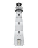 Lighthouse Isolated. On white background. 3D render Royalty Free Stock Image