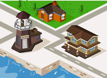 Lighthouse Isometric Stock Photography
