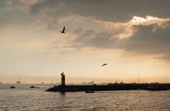 Lighthouse in Istanbul Stock Photo
