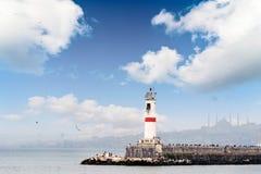 Lighthouse at Istanbul Kadikoy Turkey Royalty Free Stock Photography