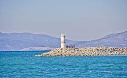 Lighthouse. In Izmir sea beach ,turkey Royalty Free Stock Photography