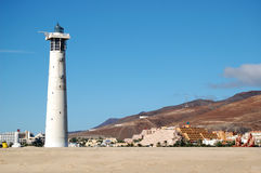 Lighthouse Jandia beach. Sapin Stock Image