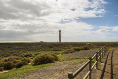 Lighthouse Jandia Playa, Fuerteventura Royalty Free Stock Image