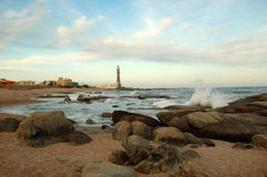 Lighthouse in Jose Ignacio Royalty Free Stock Photography