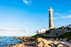Lighthouse in Jose Ignacio, Uruguay Royalty Free Stock Images