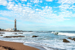 Lighthouse in Jose Ignacio, Uruguay Royalty Free Stock Photography