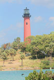 Lighthouse at Jupiter Inlet in Jupiter, Florida. The Lighthouse at Jupiter Inlet in the town of Jupiter, Florida.On a beautiful clear day. Built in 1860 to help Royalty Free Stock Photo