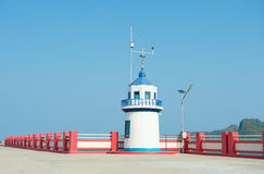 Lighthouse jutting out into the sea. Thailand Royalty Free Stock Photos