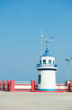 Lighthouse jutting out into the sea. Thailand Royalty Free Stock Photo