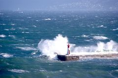 Lighthouse in Kalkbay, CapeTown. Stock Photo